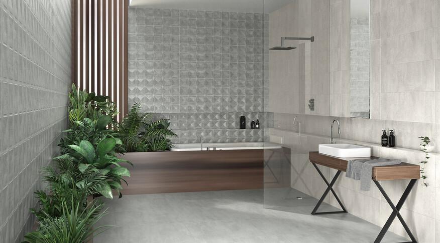 keraben frame blanco concept cemento 30x90 cemento 75x75