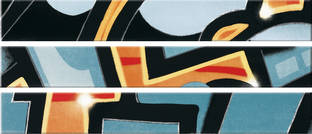 Steuler Graffiti petrol-orange 11x80cm Y33012001